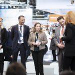 Daniela Stack (Director Cooperative Events, Deutsche Messe AG), Antonio Alamar (Stadler), Mar Rivas (Stadler), Martin Wischner (HVLE), Moderatorin Manuela Stamm. Foto: Deutsche Messe AG